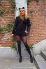 Black-morgan-de-toi-morgan-jacket-black-pimkie-bag-black-lefties-shorts