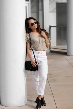 le chateau bag - Zara jeans - Sunglass La sunglasses - The Beginning Of t-shirt