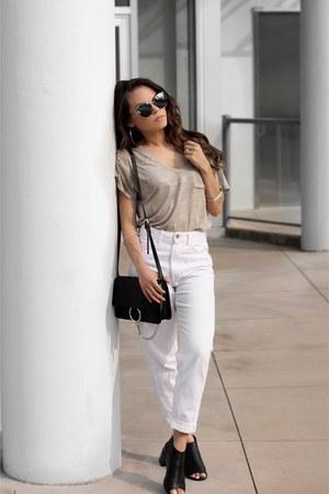 le chateau bag - Zara jeans - Sunglass La sunglasses - The Beginning Of t-shirt