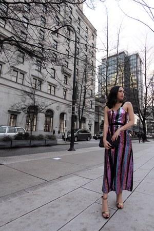 DSW shoes - Zara dress - Saint Laurent bag