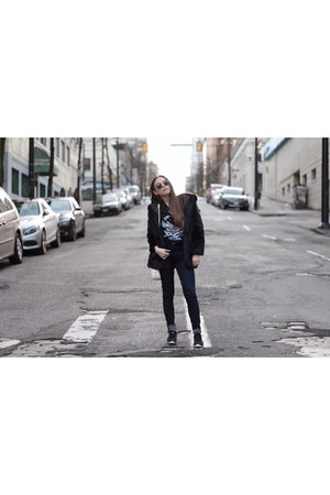 nike shoes - American Apparel jeans - GAMISS jacket - Gucci bag