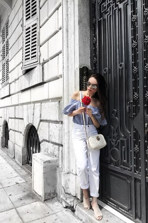 sans souci top - Zara jeans - Gucci bag - Forever 21 sunglasses