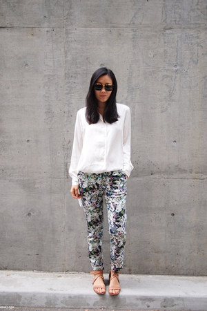Zara pants - ivory H&M shirt