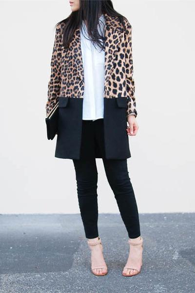 nude Chloe sandals - black Zara coat - black Rag and Bone jeans
