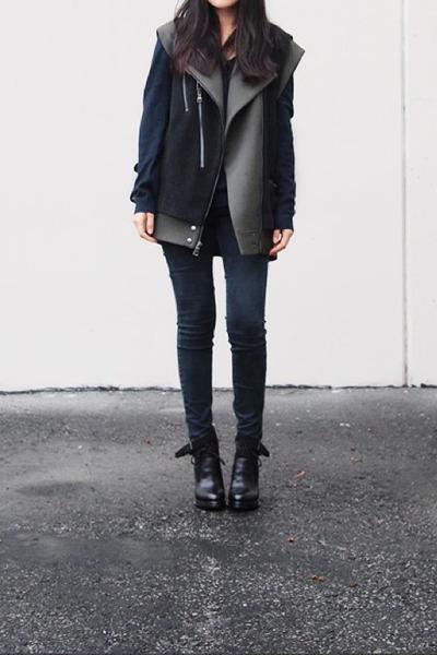 Topshop jacket - Alexander Wang boots - Topshop sweater