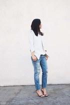 white Helmut Lang blazer - white Zara top