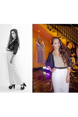 Zara belt - vintage pants - Urban Outfitters sandals