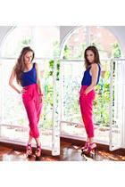 Las pepas blouse - Jessica Simpson heels - H&M pants