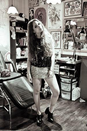 H&M skirt - DNKY shirt