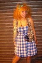 Primark accessories - vintage coat - Primark dress - vintage purse