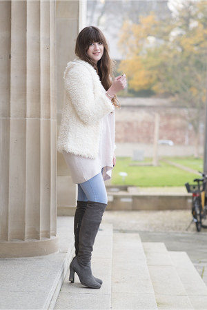 heather gray duo boots boots - periwinkle Primark jeans
