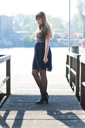 black Tommy Hilfiger boots - navy 1 Dress dress