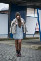 gray H&M sweater - tawny Vero Moda pants