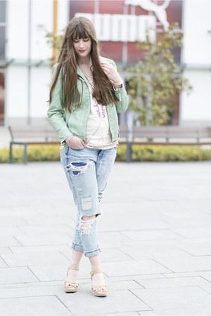sky blue H&M jeans