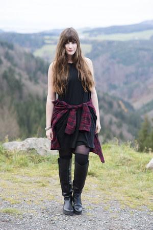black Oxmox boots - black Cheap Monday dress