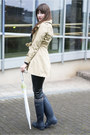 Blue-hunter-boots-camel-h-m-coat