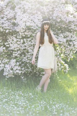 cream Mismash dress