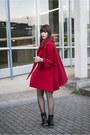 Black-roland-boots-red-chicwish-coat-black-h-m-shirt