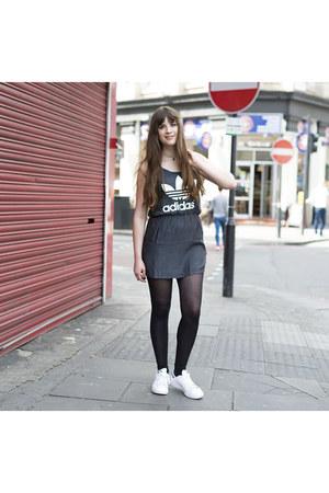 charcoal gray Adidas dress
