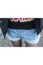 Black-romwe-sweater-sky-blue-chicnova-shorts