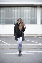 black mjus boots - black MyDearLove coat