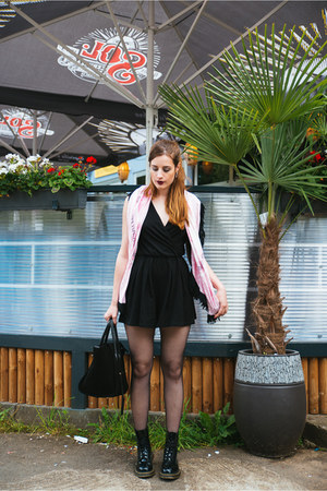 black Dr Martens boots - black BagInc bag - black SMASH romper