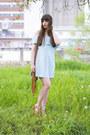 Light-blue-bershka-dress