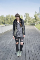 dark gray H&M jeans