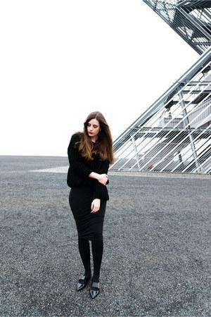 black Wolford dress