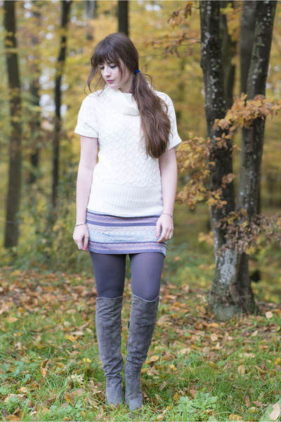 silver Xcusor bracelet - heather gray duo boots boots