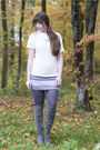 Heather-gray-duo-boots-boots-silver-xcusor-bracelet