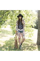 black Primark hat - bronze Steve Madden bag - bubble gum Zara cardigan