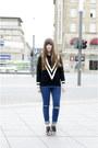 Black-romwe-sweater