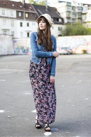 blue Vero Moda jacket - black Only dress