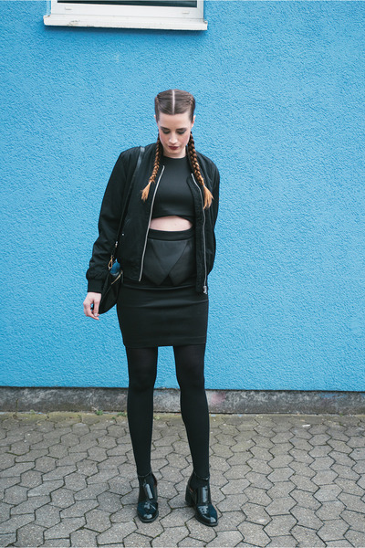 black asos dress - black Urban Outfitters jacket