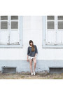 Silver-adidas-shorts