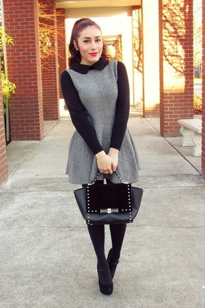 gray OASAP dress