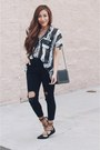Black-denim-sheinside-jeans-black-lace-up-fashionjunkee-flats