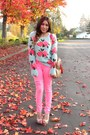 Bubble-gum-chicwish-sweater-nude-jessica-simpson-heels