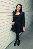 black Forever 21 dress - black papaya jacket