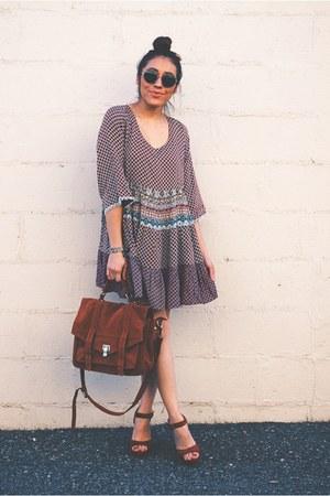 brick red boho Fashionjunkee dress - brick red AmiClubWear heels