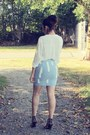 Sky-blue-choiescom-skirt-white-forever-21-blouse