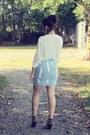 Sky-blue-choiescom-skirt-white-forever-21-blouse