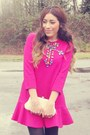 Black-forever-21-boots-hot-pink-jollychic-dress
