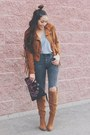Tawny-shoedazzle-boots-dark-gray-sheinside-jeans-tawny-fringe-castro-jacket