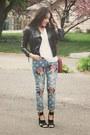 Blue-sheinside-jeans-black-forever-21-heels
