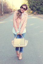peach Forever 21 jacket - nude Chicwish bag