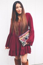 maroon Sheinside dress