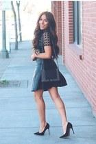black leather Sheinside dress