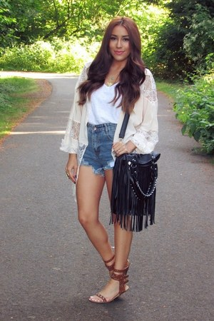 eggshell chicnova blouse - tawny AmiClubWear sandals